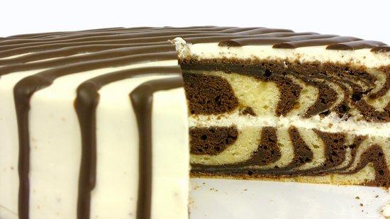 Кофейный торт Зебра на сметане