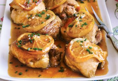 Филе бедра курицы в духовке (с картошкой, сыром)