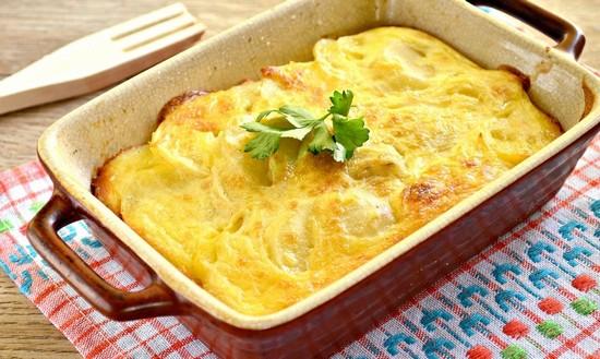 Филе рыбы с картошкой, с сыром