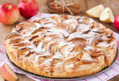 Как делать шарлотку с яблоками в духовке (с содой, разрыхлителем)