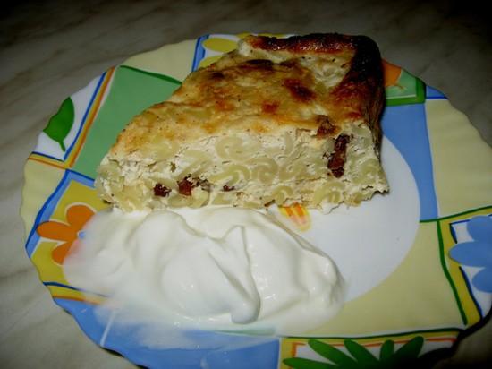 Запеканка из макарон сладкая