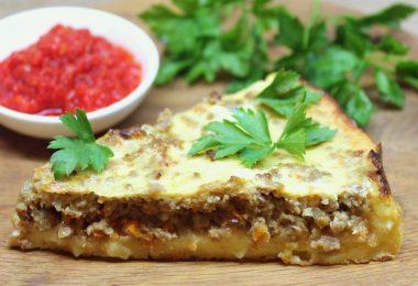 Картофельный пирог с фаршем в духовке: рецепты