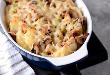 Курица с шампиньонами и картошкой в духовке (с сыром, в горшочках)