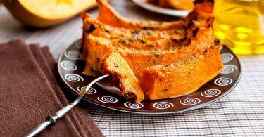 Печеная тыква в духовке сладкая (с медом)