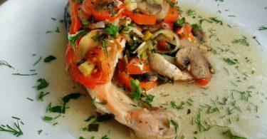 Семга с овощами в фольге в духовке: рецепты