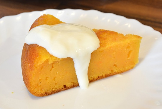Полосатый десерт из творога и тыквы