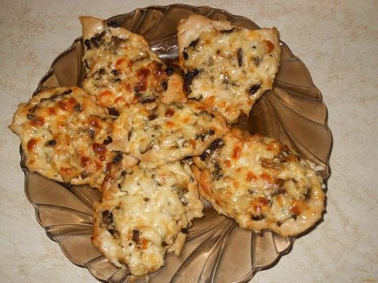 отбивные из говядины с грибами в духовке