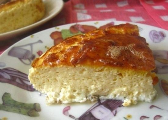 омлет в духовке пышный с сыром