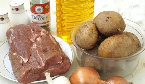 отбивную из говядины в духовке с картошкой