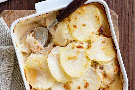 как сделать картофель с курочкой в духовке