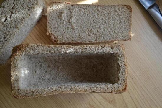 Получается вот такая хлебная формочка
