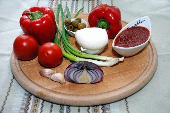 Рецепт третий: в пицце только овощи