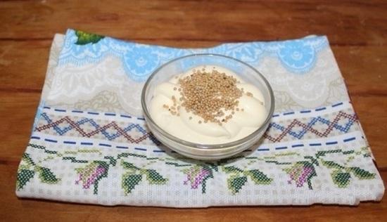 В майонез добавим зерновую горчицу