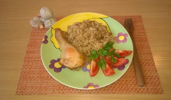 запеченная курица с рисом в пиве в духовке