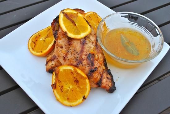 Сладкая курица с апельсинами и медом в духовке