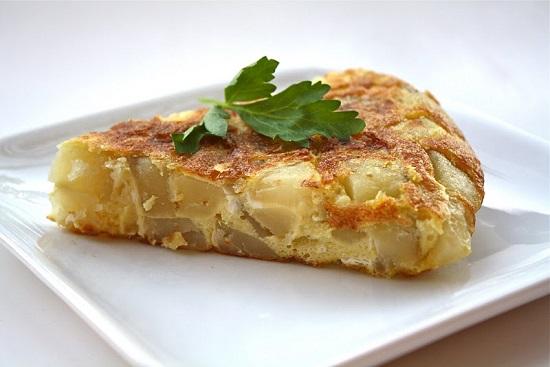 приготовления омлета с картофелем