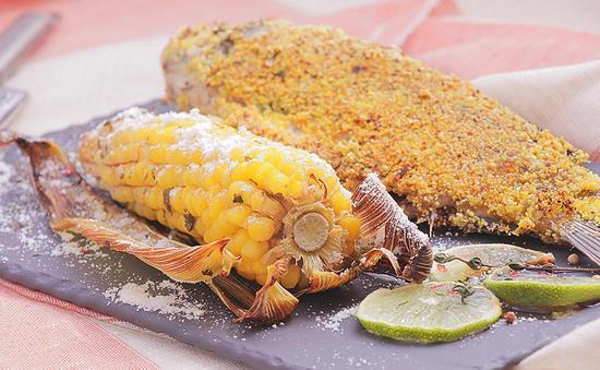 Рецепт запекания карпа в духовке в фольге с кукурузой и лаймом