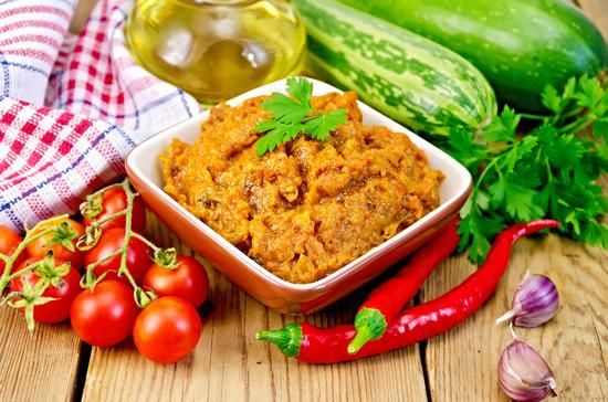 Кабачковая икра в духовке: рецепт с болгарскими перцами