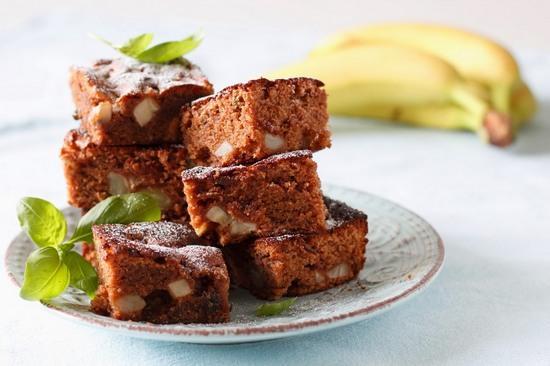 Простой рецепт шоколадного кекса в духовке с какао и бананом