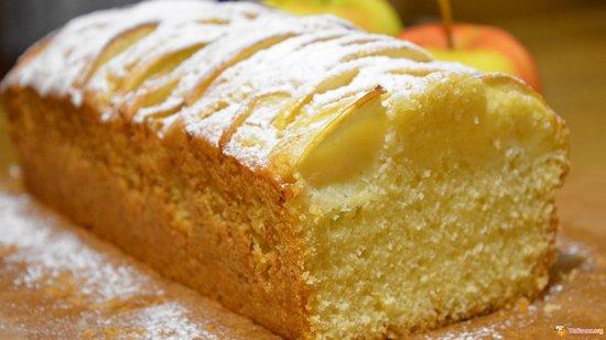 Кекс на сметане в духовке: рецепт с яблоками