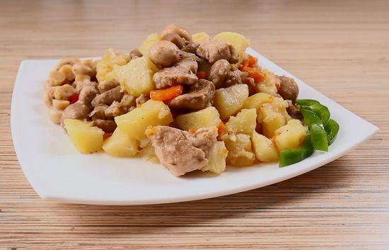 рецепт филе в фольге с грибами и картошкой