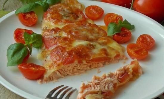 горбуша со сливками в духовке: рецепт с сыром и томатами